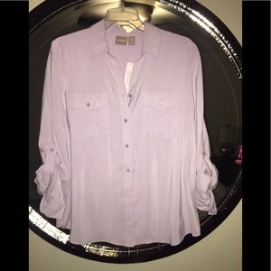 Chicos Silkie chic Sofia blouse size 2
